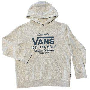 """Vans Sweatshirt Hoodie """"Off The Wall"""" Large L Gray"""